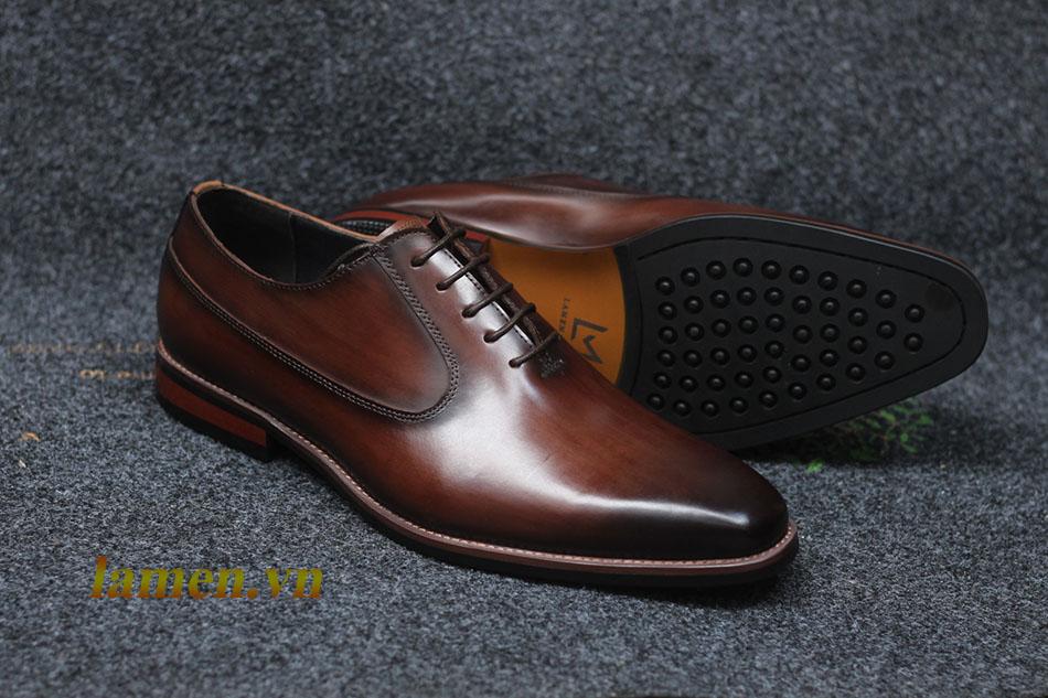 Giày da bò nam, giày nam công sở buộc dây cao cấp - 15