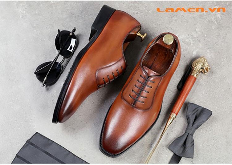 Giày da bò nam, giày nam công sở buộc dây cao cấp - 2
