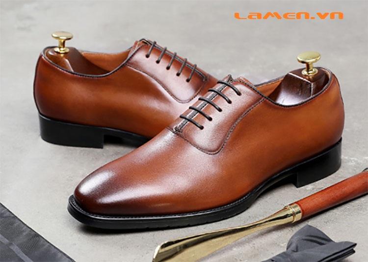 Giày da bò nam, giày nam công sở buộc dây cao cấp - 3