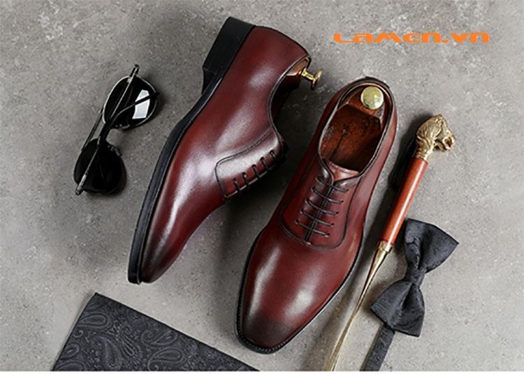 Giày da bò nam, giày nam công sở buộc dây cao cấp - 1