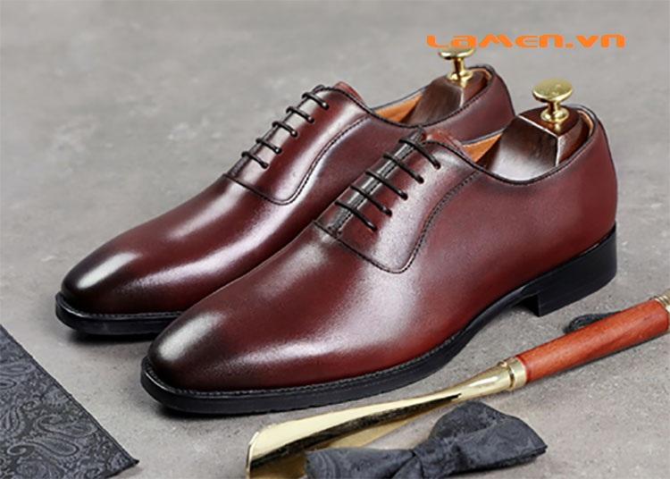 Giày da bò nam, giày nam công sở buộc dây cao cấp