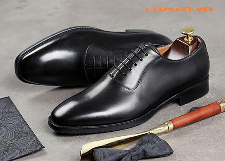 Giày da bò nam, giày nam công sở buộc dây cao cấp - 5