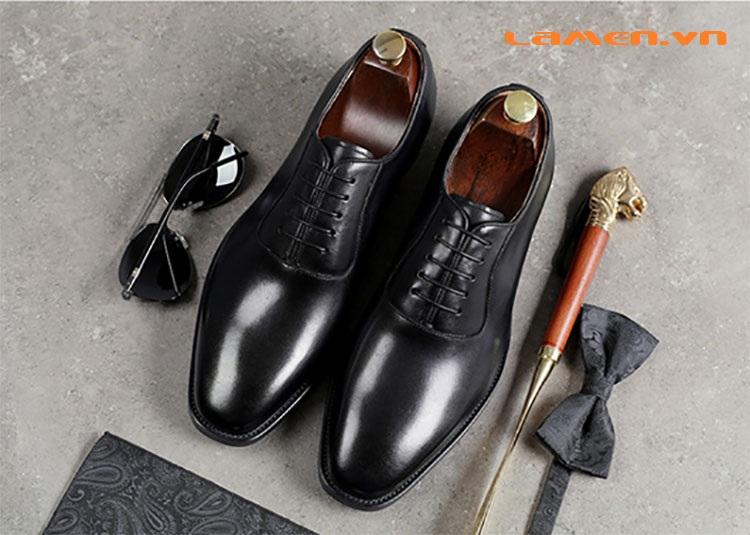 Giày da bò nam, giày nam công sở buộc dây cao cấp - 4